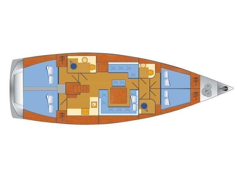 Hanse 455 (Gabriel I) Plan image - 2