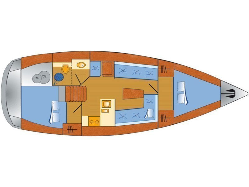 Bavaria Cruiser 37 - 2 cab (Swing) Plan image - 1