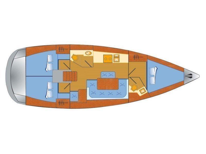 Bavaria Cruiser 41 (Maestral) Plan image - 1