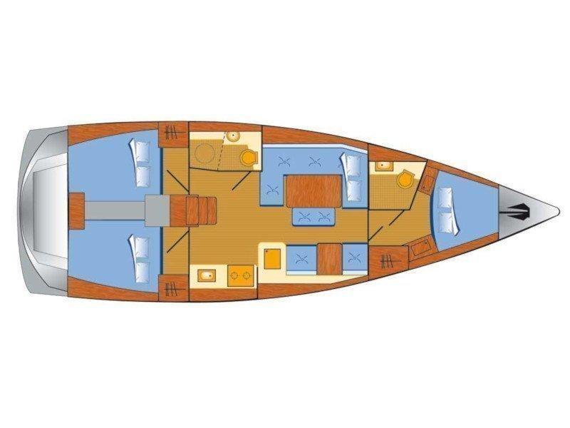 Dufour 412 Grand large (Piet) Plan image - 7