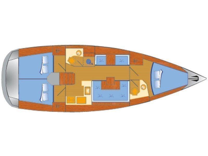 Sun Odyssey 419 (Espresso) Plan image - 2