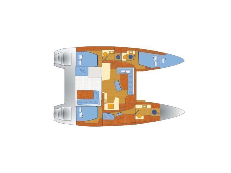 Lagoon 42 - 3 cab (Titus) Plan image - 1