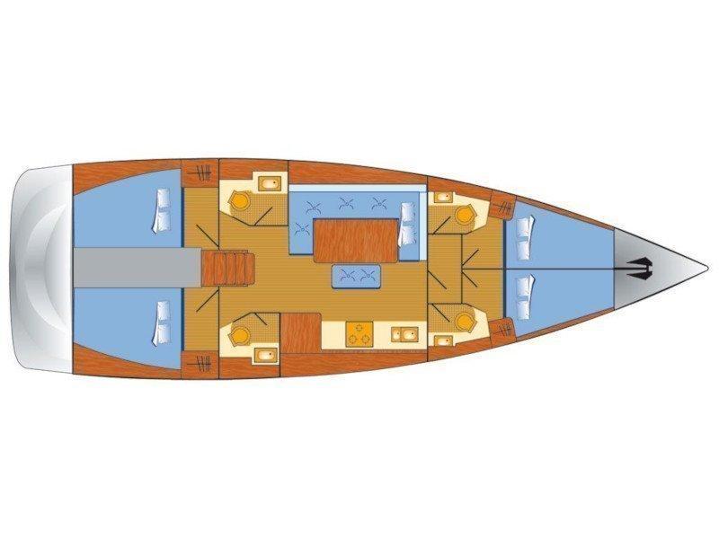 Dufour 460 Grand Large (Alila III) Plan image - 5