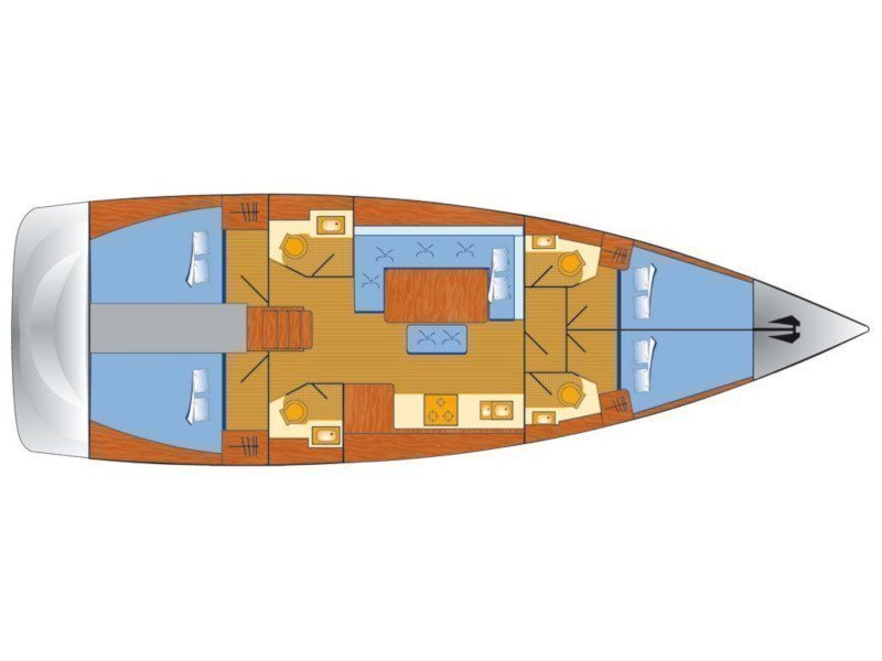 Dufour 460 Grand Large (Gabriel II) Plan image - 3
