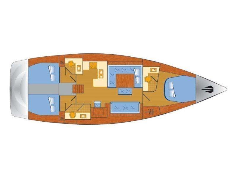Dufour 485 Grand Large (Great Pleasure) Plan image - 3