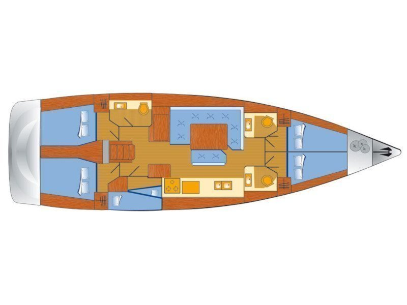 Sun Odyssey 519 (Elsa) Plan image - 1