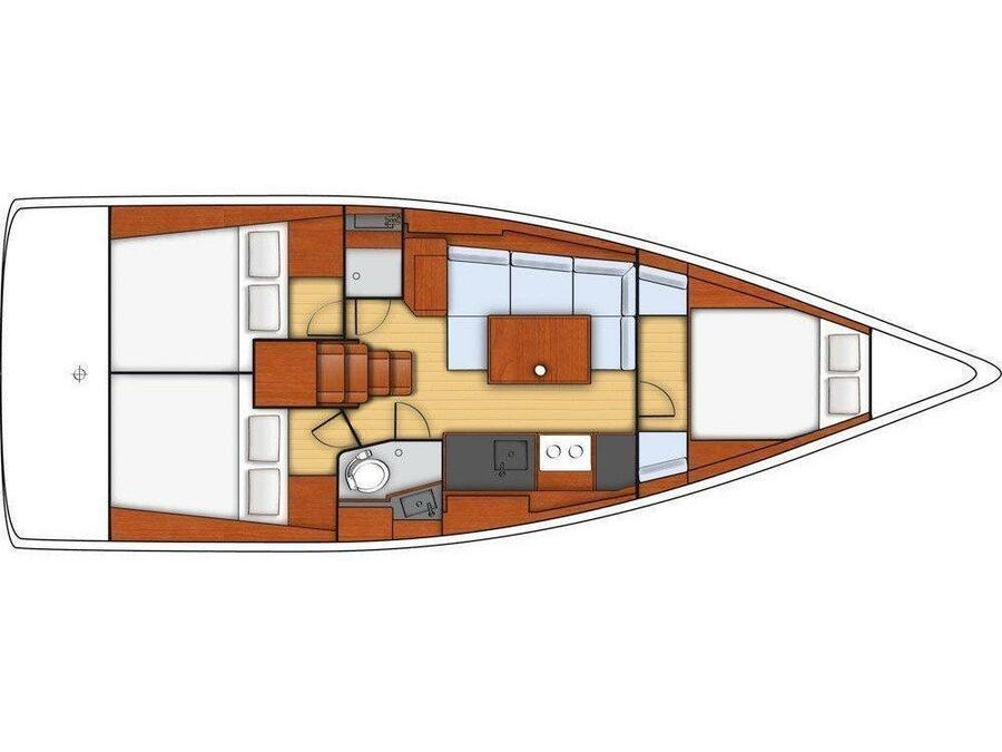 Oceanis 38 (LA GAFFE) Plan image - 5