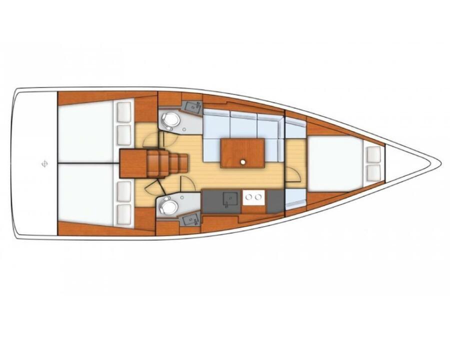 Oceanis 38 (RUSALKA) Plan image - 3