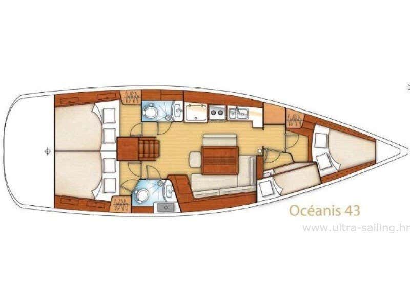 Oceanis 43 (SREBRNA II) Plan image - 19