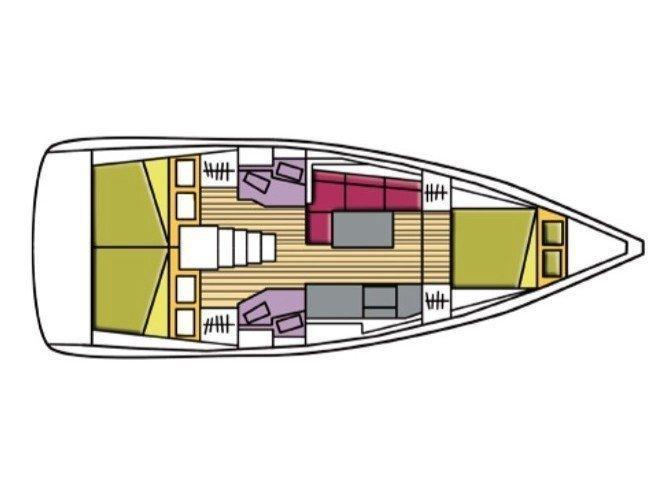Oceanis 38.1 (Avior) Plan image - 12