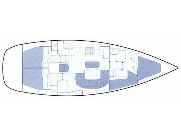 Oceanis 411 Clipper (Ekaterini) Plan image - 12