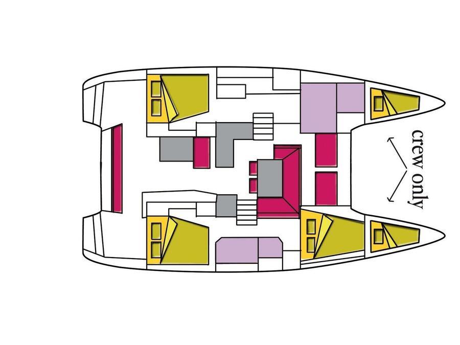Lagoon 40 (Saudade (Watermaker)) Plan image - 2