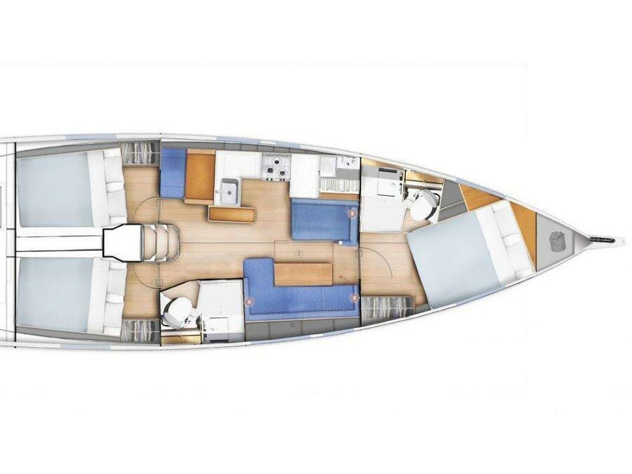 Sun Odyssey 410 (Spavalda) Plan image - 9