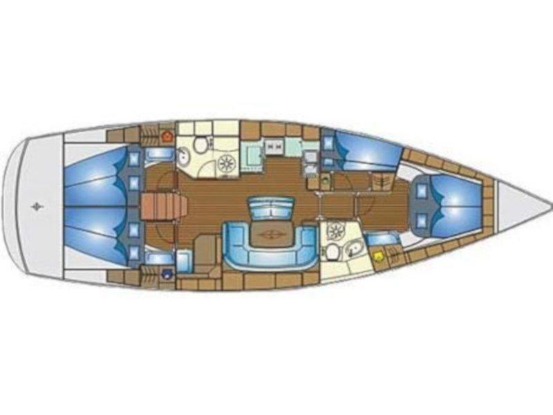 Bavaria 46 Cruiser (Mary Ann) Plan image - 4
