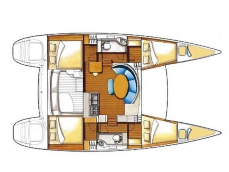 Lagoon 380 S2 (Ameli) Plan image - 2