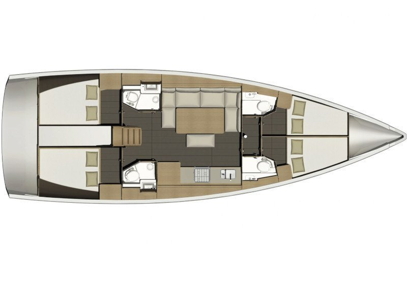 Dufour 460 Grand Large (CETO (aircondition, generator, blue hull)) Plan image - 19