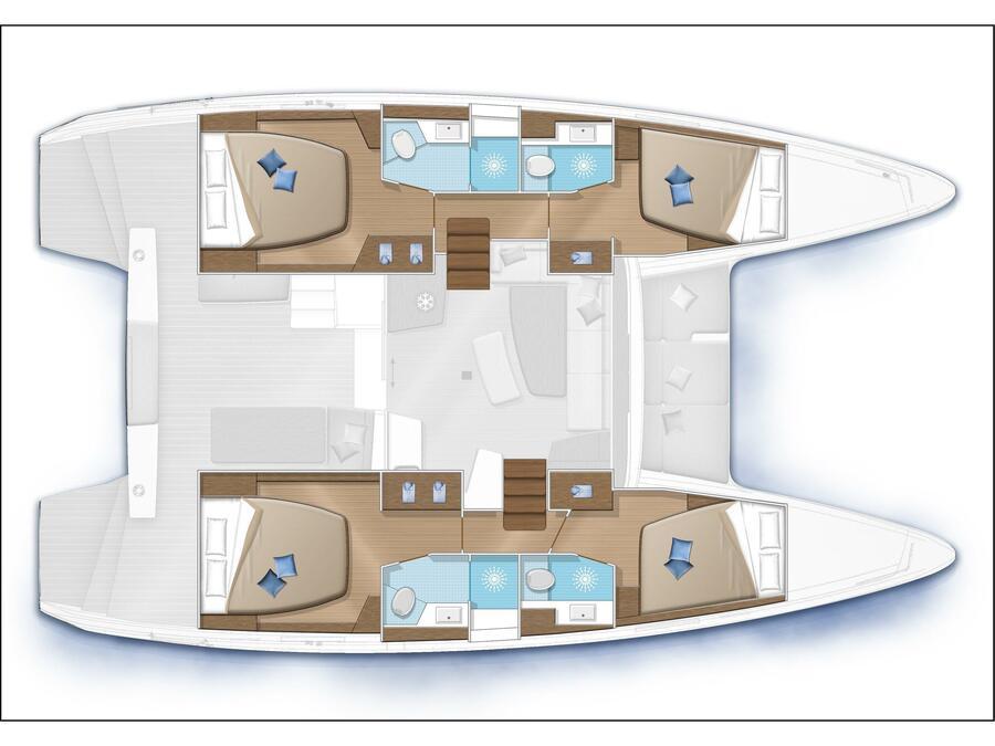 Lagoon 42 - 4Cab/4Hd (Cloud Dancer) Plan image - 6