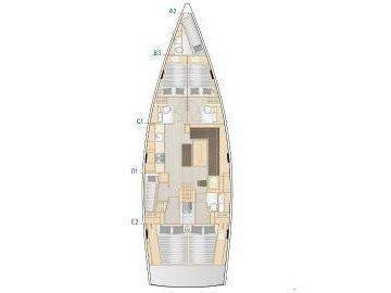 Hanse 508 (Uptown Girl ) Plan image - 1
