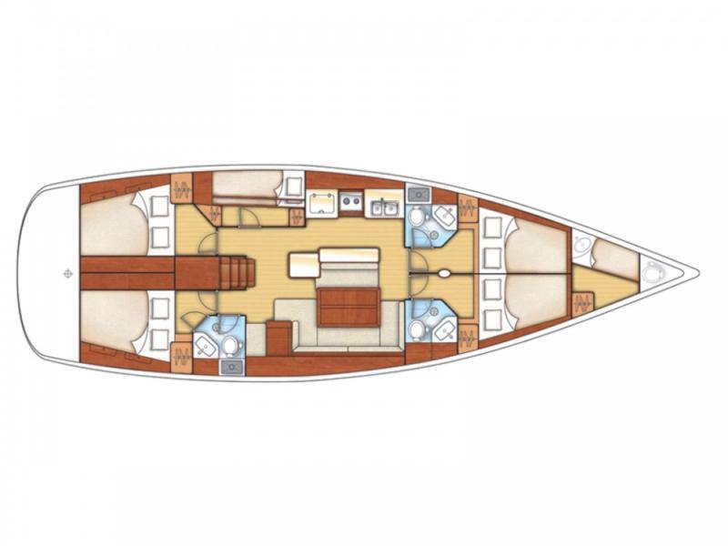 Oceanis 50 (Gilda (A/C - Generator - 12 pax)) Plan image - 17
