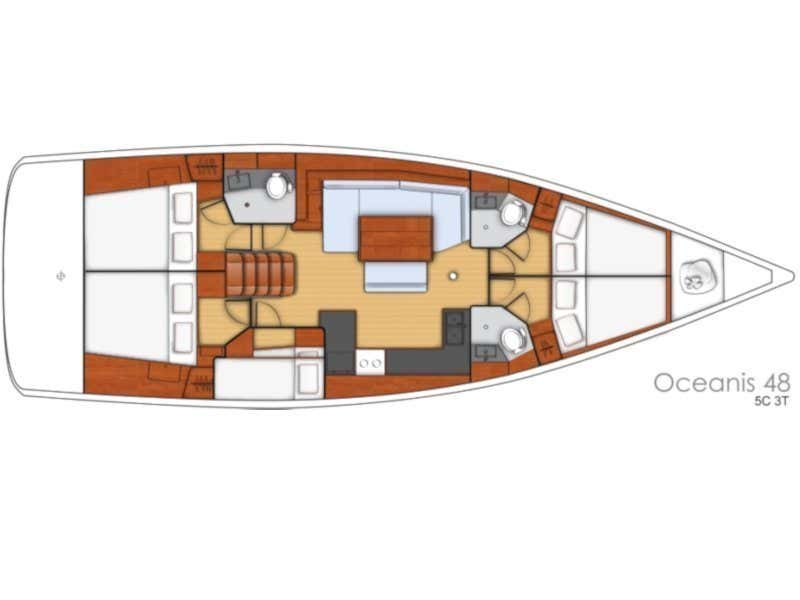 Beneteau Oceanis 48 (HARPIA) Plan image - 5
