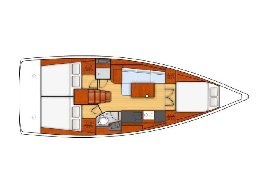 Oceanis 38.1 (Loviisa) Plan image - 2