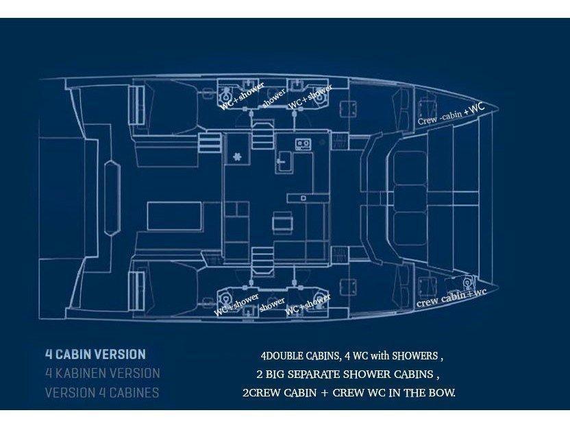Nautitech 47 Power (ZEUS) Plan image - 9
