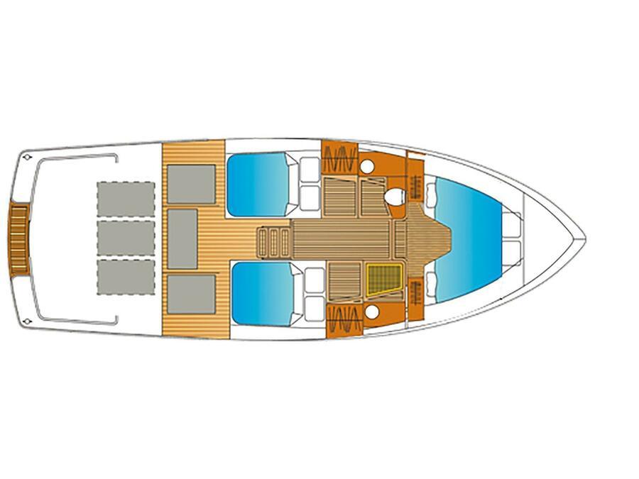 Bravoure 34 Twin (Drait 83) Plan image - 3