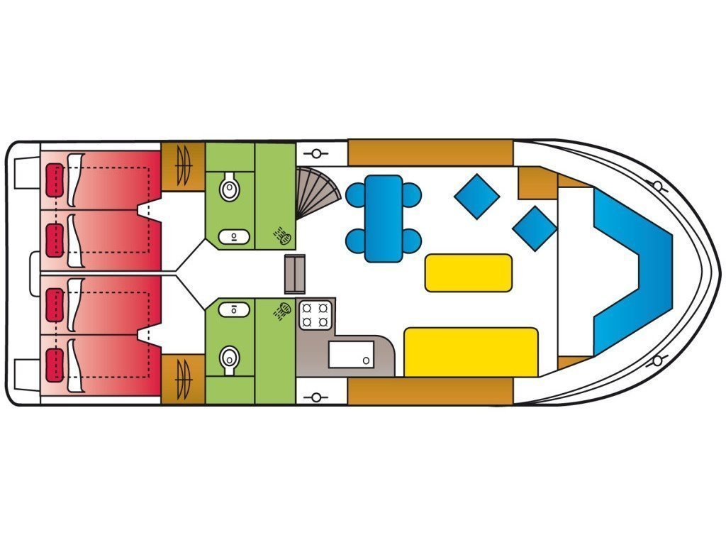 Safari Houseboat 1200 (Holidaytime) Plan image - 6