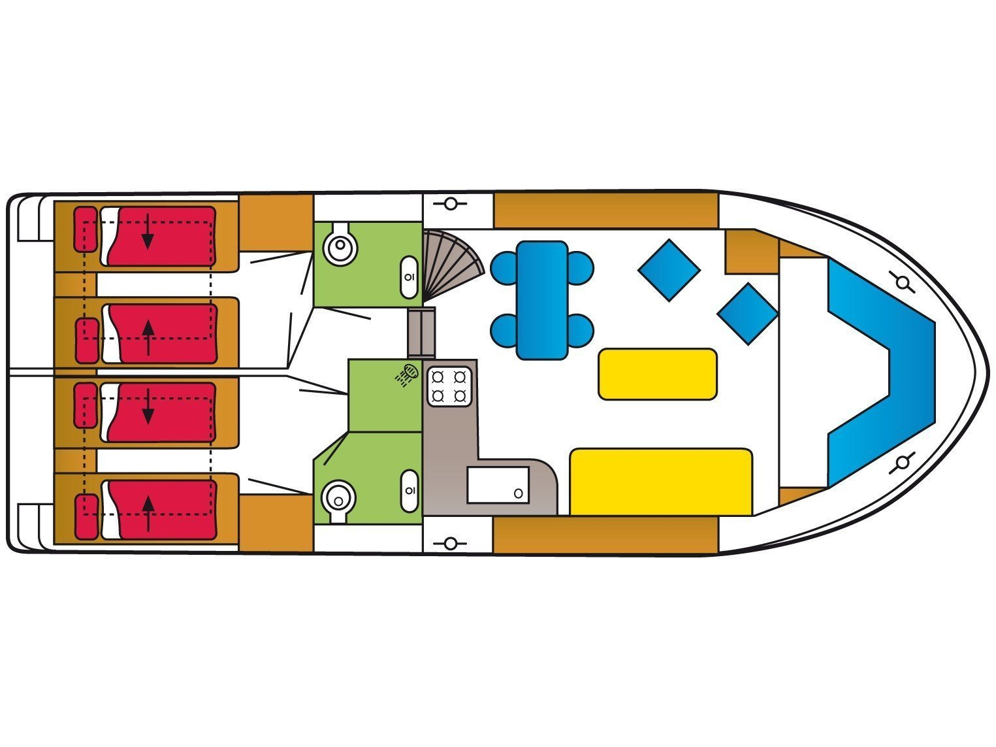 Safari Houseboat 1050 (Queen) Plan image - 6