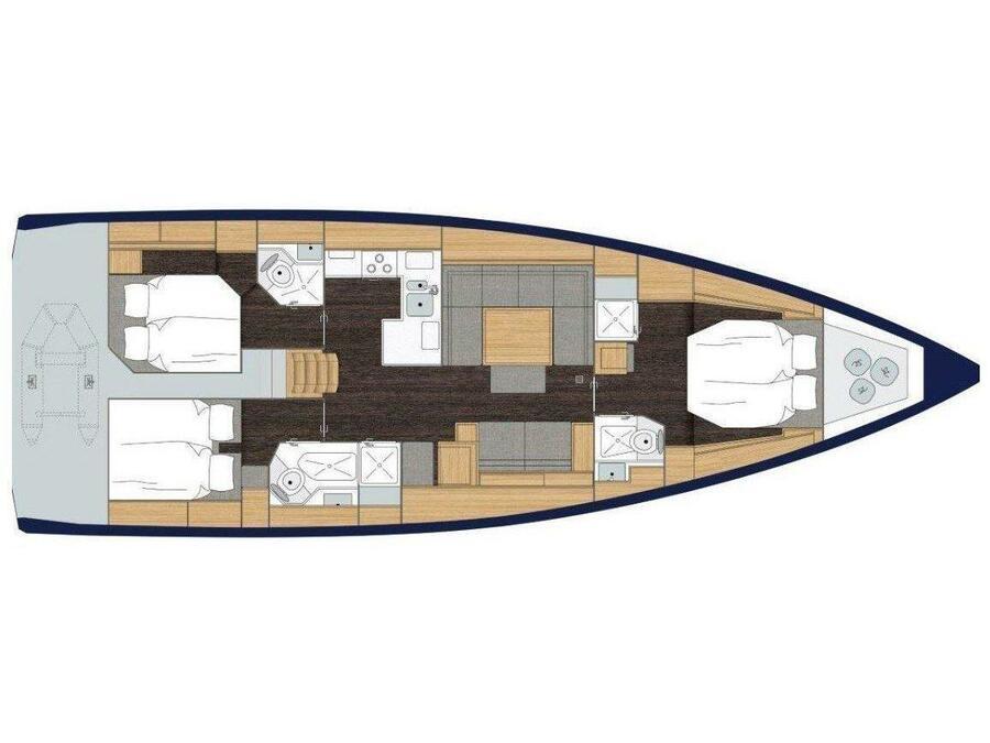 Bavaria C50 Style - AC + GEN (Ya  - AC + GENERATOR) Plan image - 5