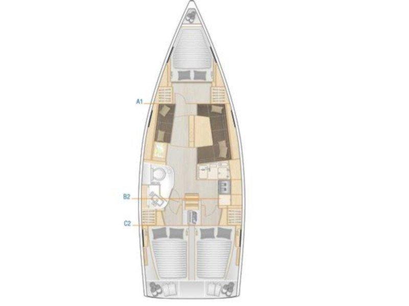Hanse 388 (Whisper) Plan image - 1