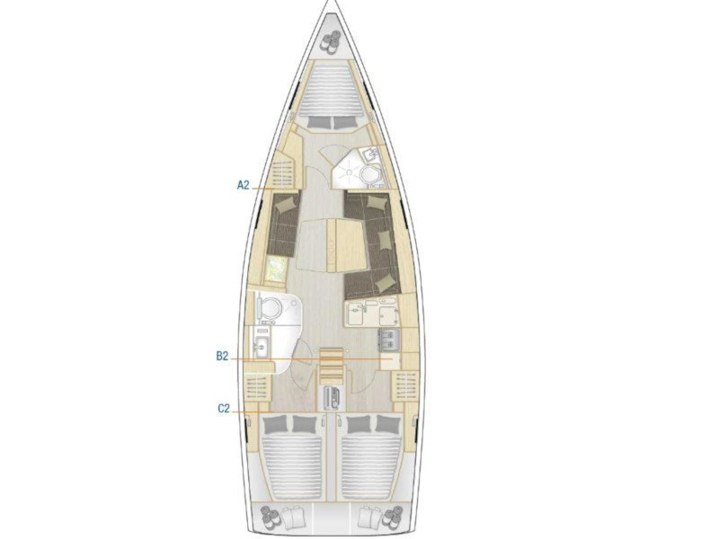 Hanse 418 (Blue Eagle) Plan image - 5