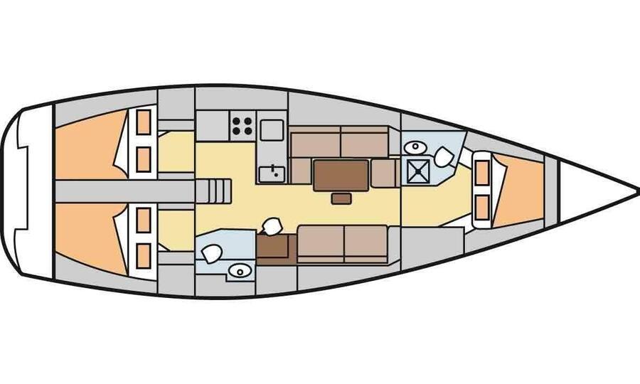 Dufour 40E Performance (Tiburon) Plan image - 9