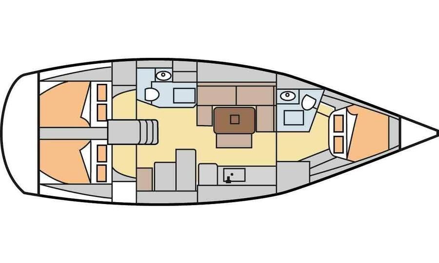 Dufour 405 Grand Large (Ricarda) Plan image - 2