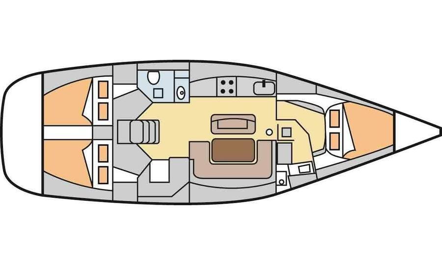 Dufour 425 (Loreley) Plan image - 4