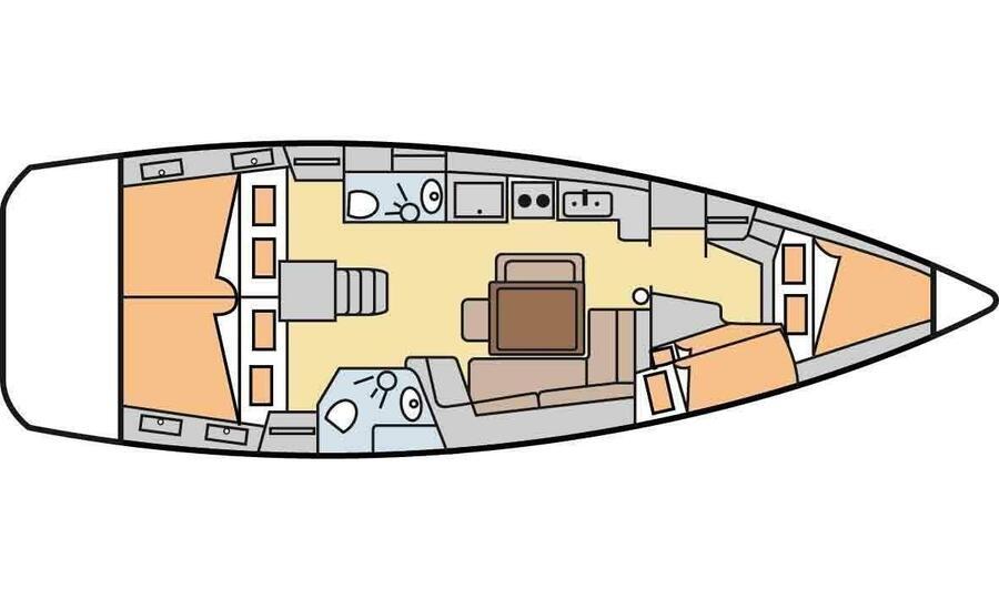 Beneteau Oceanis 43 (Diva) Plan image - 3