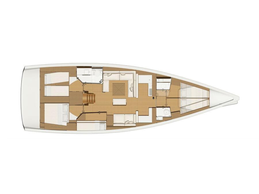 Dufour 520 Grand Large (Calypso) Plan image - 1