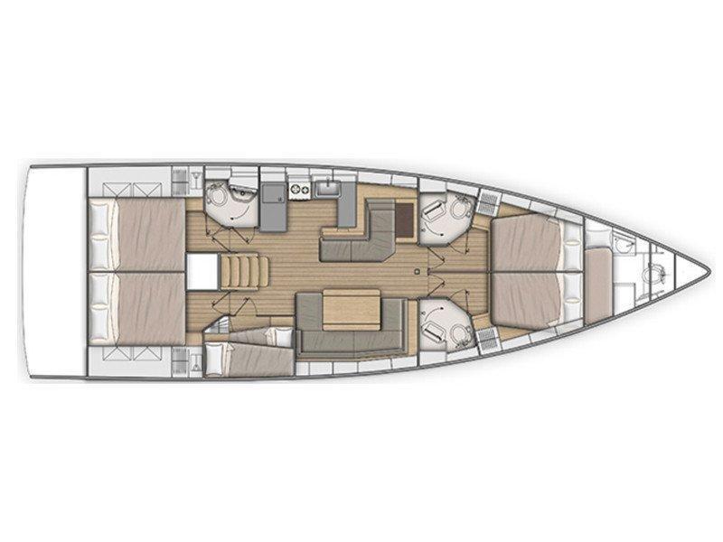 Oceanis 51.1 (Princess Oceana) Plan image - 4