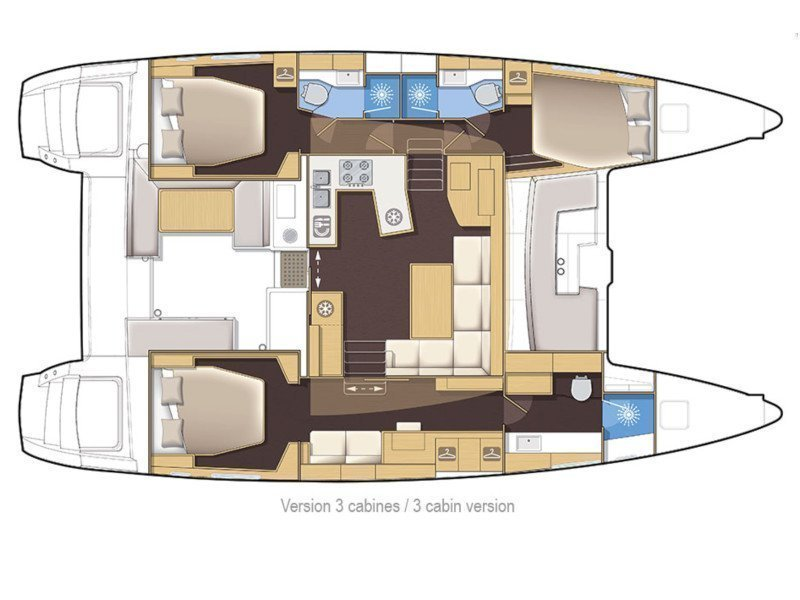 Lagoon 450 sporteck 3 cabin (Aitana) Plan image - 21