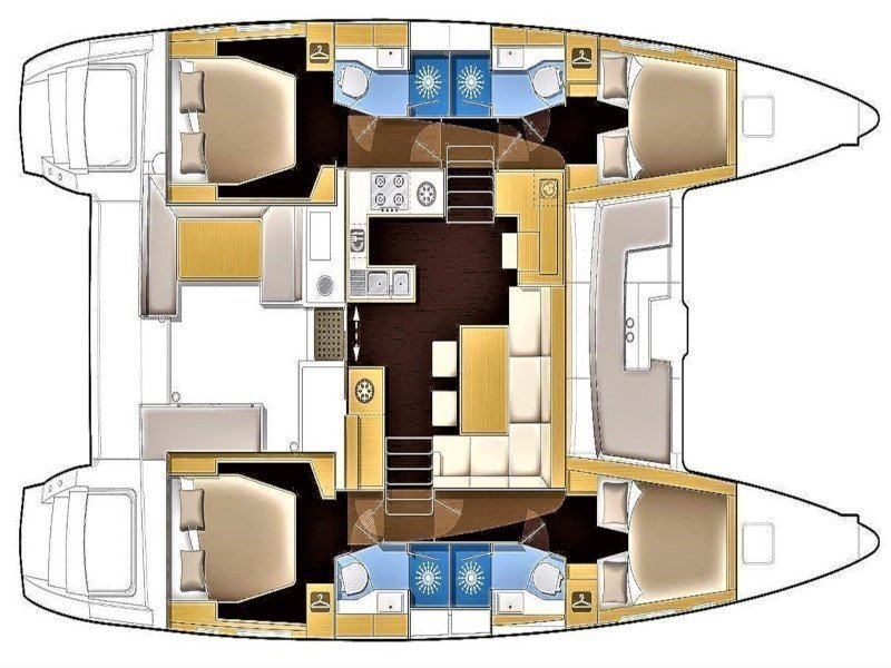 Lagoon 450 4 cabin (Allegra) Plan image - 7