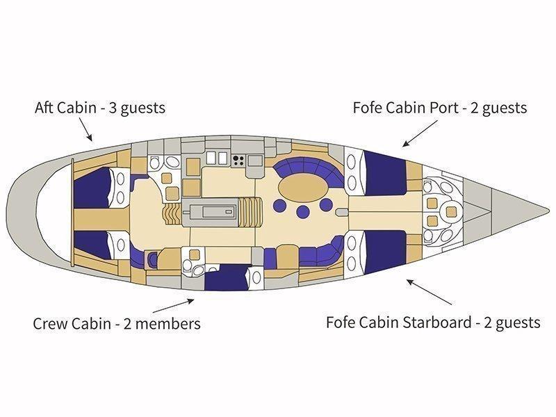Beneteau 62 (Bogey 1 - skipper included in price) Plan image - 3