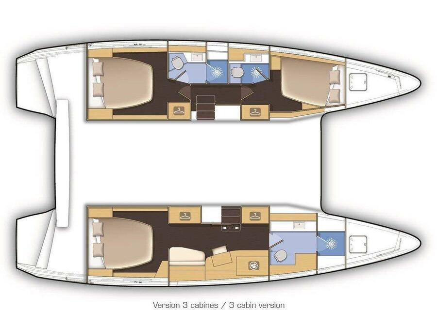 Lagoon 42 (LA PERLA (WITH AC&GENERATOR OWNER VERSION)) Plan image - 7