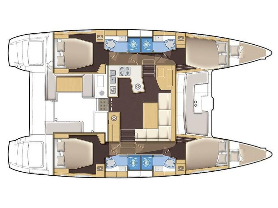 Lagoon 450 (ARCTIC PRINCE (WITH AC&GENERATOR)) Plan image - 9
