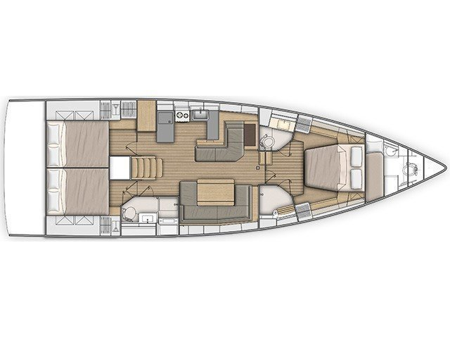 Oceanis 51.1 (MAMAMIA (WITH AC&GENERATOR OWNER VERSION)) Plan image - 6
