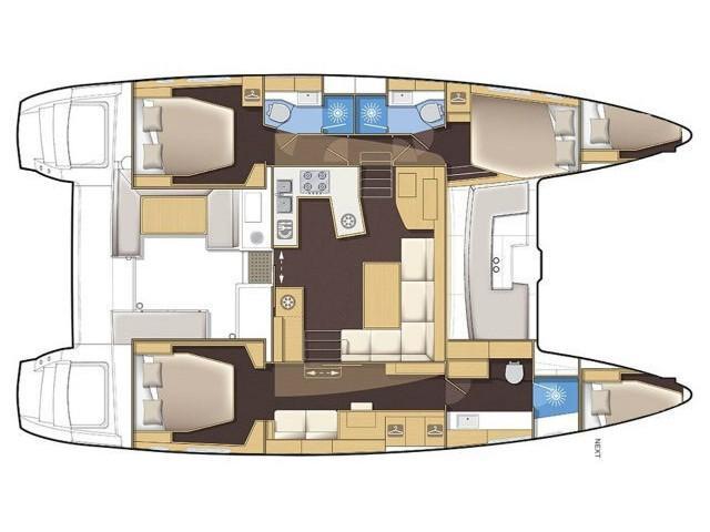 Lagoon 450 F (ONENO) Plan image - 2