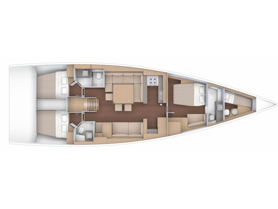 Dufour 56 Exclusive (Cavaliere CAST) Plan image - 2