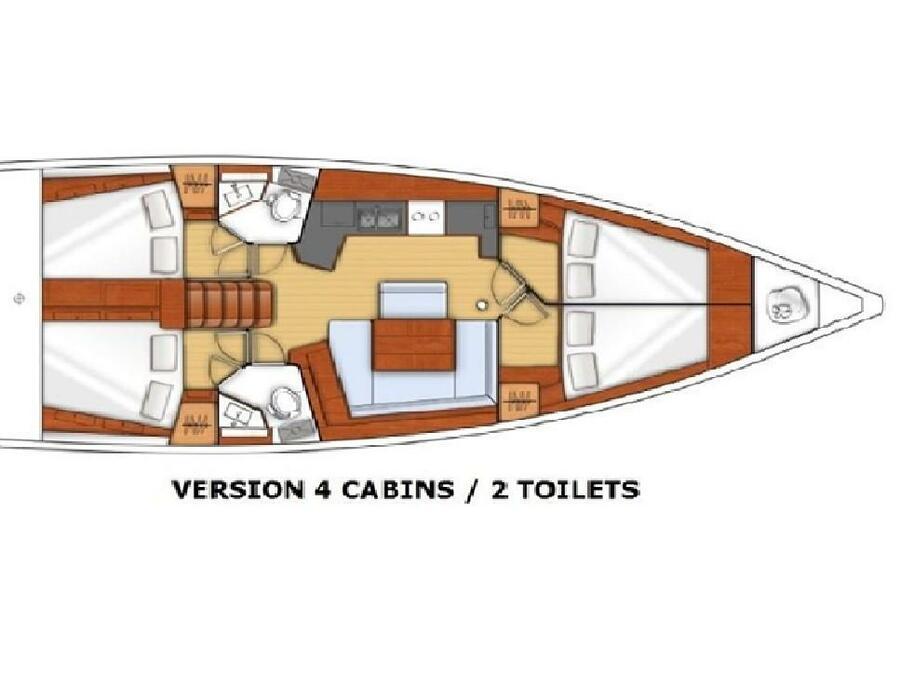 Oceanis 45 (Soffia) Plan image - 3