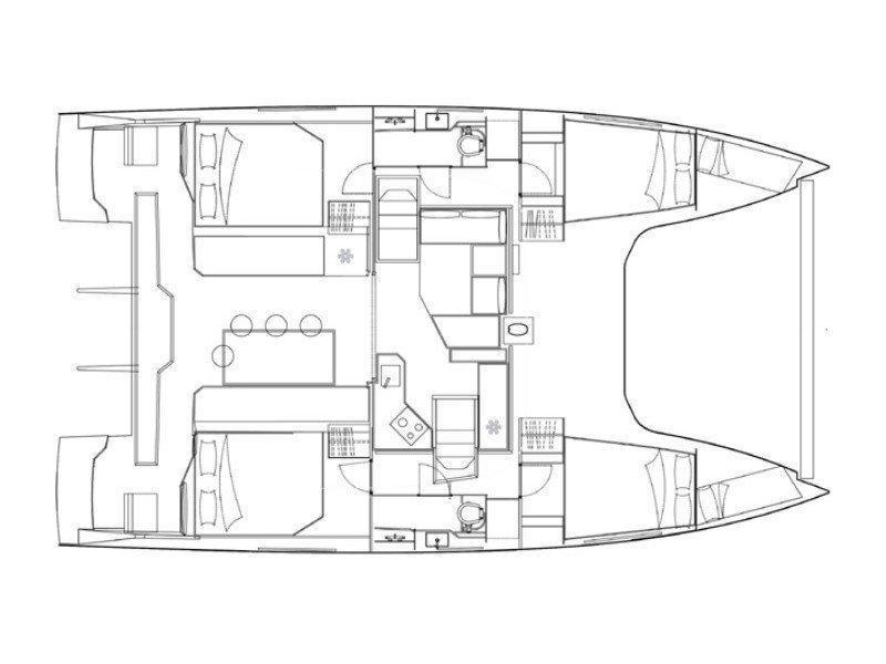 Nautitech Open 40 (ENDLESS) Plan image - 2