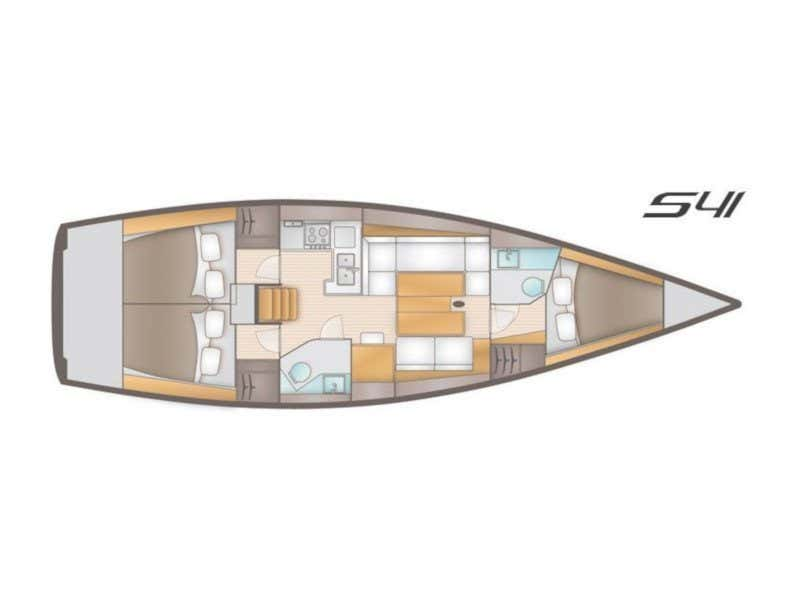 Salona 41 (Sol Et Velo) Plan image - 1