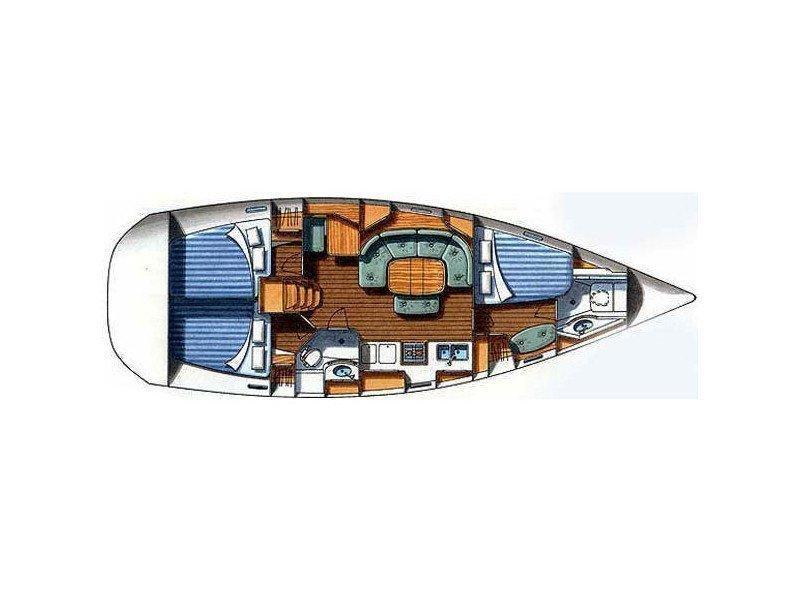 Oceanis 393 Clipper (Anita) Plan image - 4
